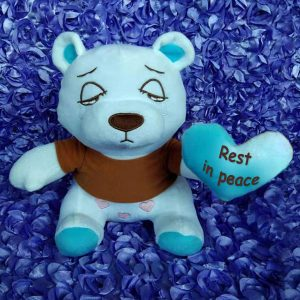 Blissful-Memories-Blue-brownT-shirt-blue-small-heart-rest-in-peace