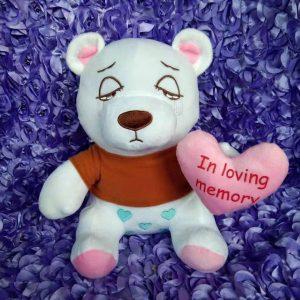 White In Loving Memory Teddy