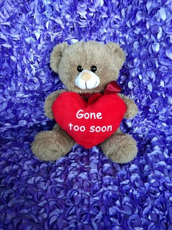 BROWN Big RED Heart Gone Too Soon